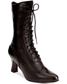 """Oak Tree Farms 9"""" Victorian Dress Boots"""