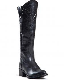 Johnny Ringo Women's Mars Black Studded Top Western Boots - Medium Toe