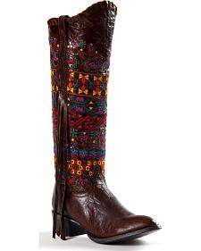 Johnny Ringo Women's Sagrada Fringe Knee-High Boots - Round Toe