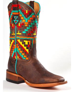 Johnny Ringo Womens Aztec Kaleidoscope Western Boots - Square Toe