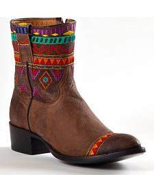 Johnny Ringo Women's Aztec Short Cowgirl Boots - Round Toe