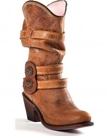 Johnny Ringo Women's Slouchy Western Cowgirl Boots - Round Toe