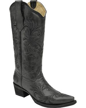 Circle G Filigree Cowgirl Boots - Snip Toe