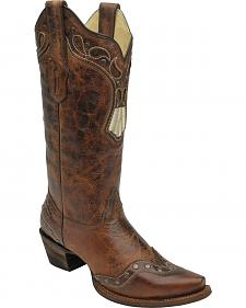 Corral Women's Studded Wingtip Cowgirl Boots - Snip Toe