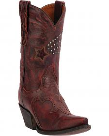 Dan Post Women's Dallas Star Cowgirl Boots - Snip Toe