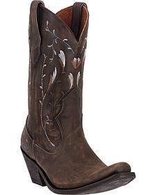 "Dan Post Women's Standing ""O"" Cowgirl Boots - Square Toe"