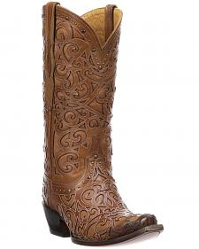 Lucchese Handmade 1883 Women's Sierra Cowgirl Boots - Snip Toe