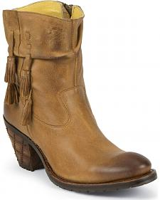 Justin Women's Western Tassel Shorty Boots - Round Toe