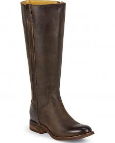 Justin Women's Tall Leather Riding Boots - Round Toe