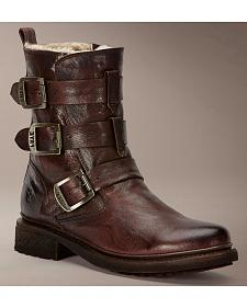 Frye Women's Valerie Strappy Shearling Ankle Boots