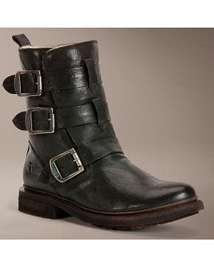 Frye Womens Valerie Strappy Shearling Ankle Boots