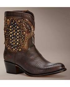 Frye Women's Deborah Deco Short Cowgirl Boots - Round Toe