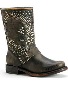 Frye Jenna Skull Stud Short Boots
