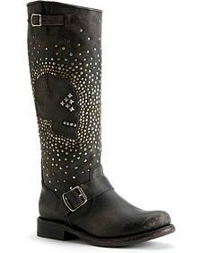Frye Jenna Skull Stud Tall Boots