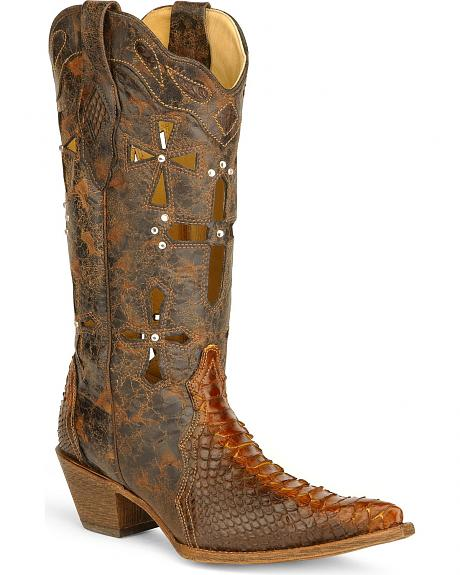 Corral Python Cross Cowgirl Boots