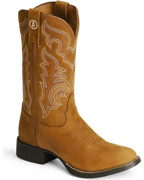 Tony Lama 3R Series Stockman Boots - Round Toe