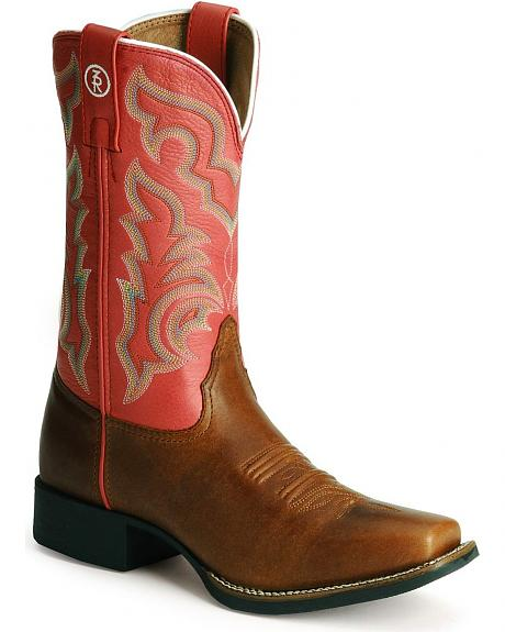 Tony Lama 3R Series Stockman Cowgirl Boots - Square Toe