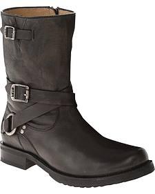Frye Veronica Criss Cross Brown Short Boots