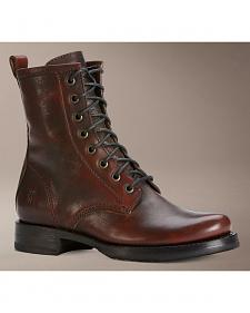 Frye Veronica Brown Combat Boots
