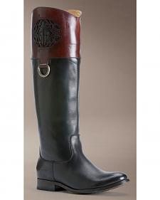 Frye Melissa Logo Riding Boots