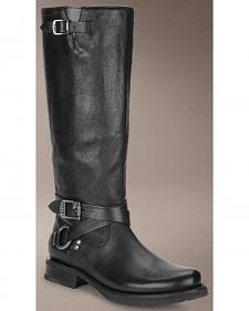 Frye Veronica Criss Cross Tall Black Riding Boots