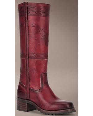 Frye Campus Stitching Horse Riding Boots - Square Toe