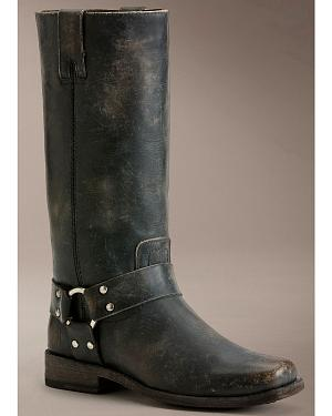 Frye Womens Smith Harness Tall Boots - Square Toe