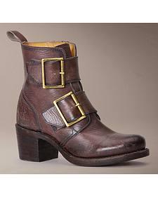 Frye Women's Sabrina Double Buckle Short Boots
