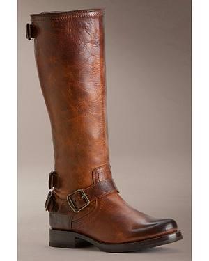 Frye Womens Veronica Back Zip Riding Boots