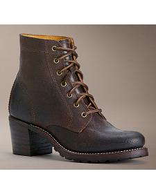 Frye Sabrina 6G Lace-Up Oiled Suede Boots