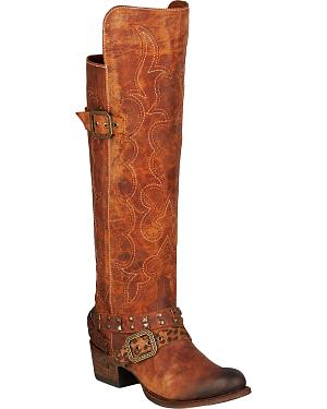 Lane Julie Knee-High Cowgirl Boots - Round Toe