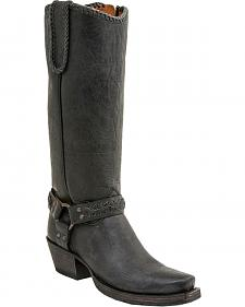 Lucchese Women's Harness Lug Boots - Medium Toe
