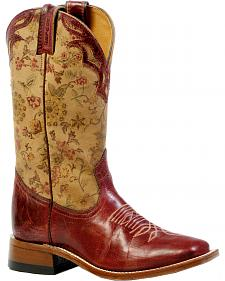 Boulet Women's Puma Rojo Cowgirl Boots - Square Toe