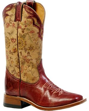 Boulet Womens Puma Rojo Cowgirl Boots - Square Toe
