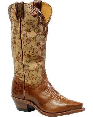 Boulet Womens Puma Madera Cowgirl Boots - Snip Toe