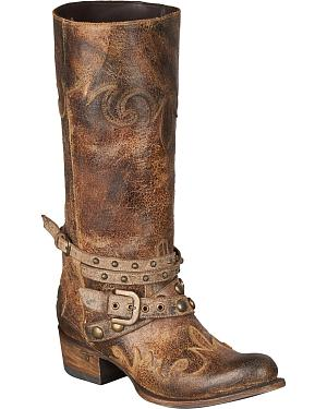 Lane Womens Paradise Harness Boots - Round Toe