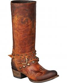 Lane Women's Paradise Harness Boots - Round Toe