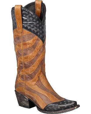 Lane Faded Glory Cowgirl Boots - Snip Toe