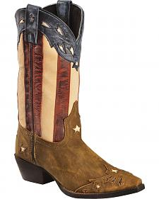 Laredo Women's Keyes Stars & Stripes Cowgirl Boots - Snip Toe