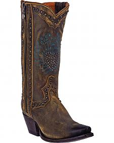 Dan Post Women's Heartbreaker Zipper Cowgirl Boots - Snip Toe