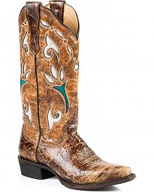 Stetson Tulip Cowgirl Boots - Snip Toe