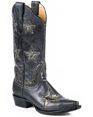 Stetson Star Cowgirl Boots - Snip Toe