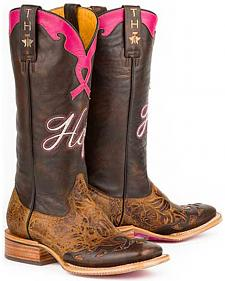 Tin Haul Staying Strong with Hope Cowgirl Boots - Square Toe
