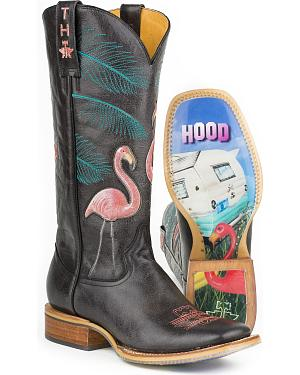 Tin Haul Womens Trailerhood Cowgirl Boots - Square Toe