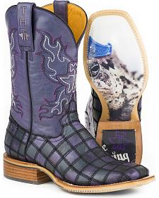 Tin Haul Women's Prince Charming Cowgirl Boots - Square Toe