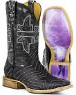 Tin Haul Womens Neon Star Unicorn Cowgirl Boots - Square Toe