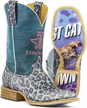 Tin Haul Womens Cheetah Print Fast Cat Cowgirl Boots - Square Toe