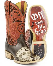 Tin Haul Women's Queen of Hearts Cowgirl Boots - Square Toe