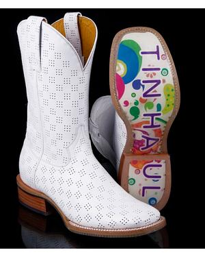 Tin Haul Womens Psychedelic A-Go-Go Cowgirl Boots - Square Toe