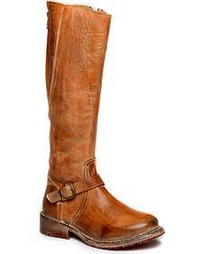 Bed Stu Women's Glaye Tall Back-Zip Boots